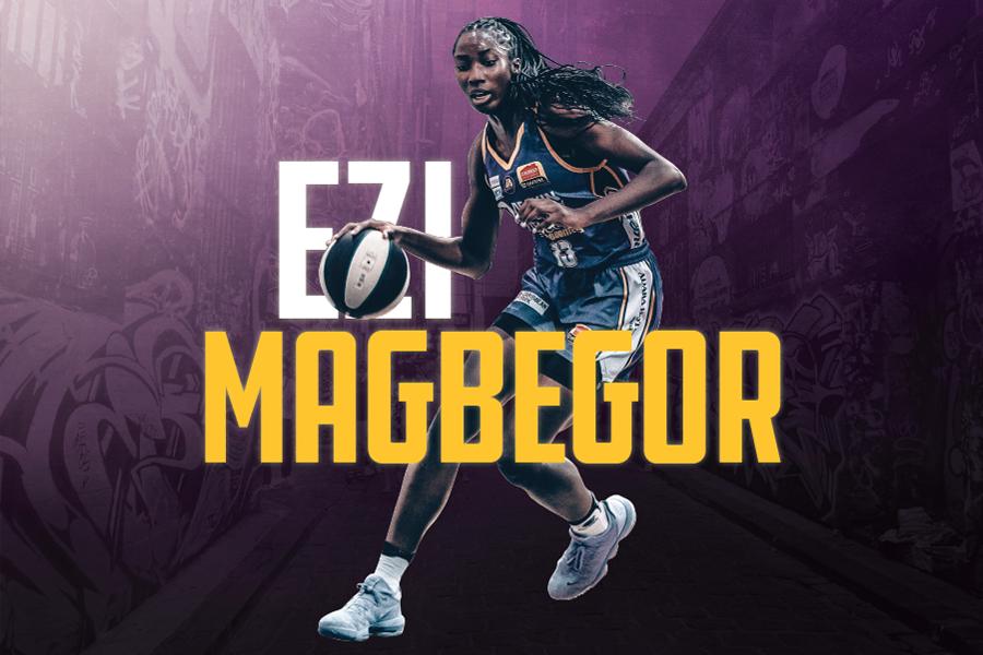 Ezi Magbegor name graphic and image