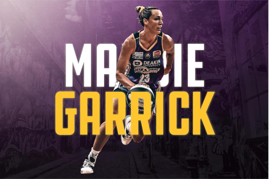 Maddie Garrick name graphic and photo